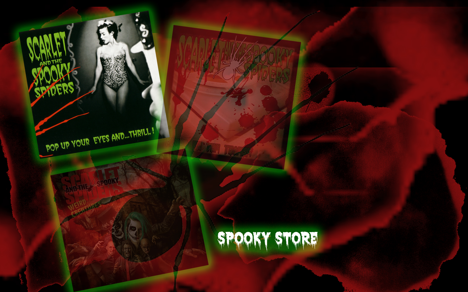 Pop Up Your Eyes and … Thrill ! first scarlet and the spooky spiders album
