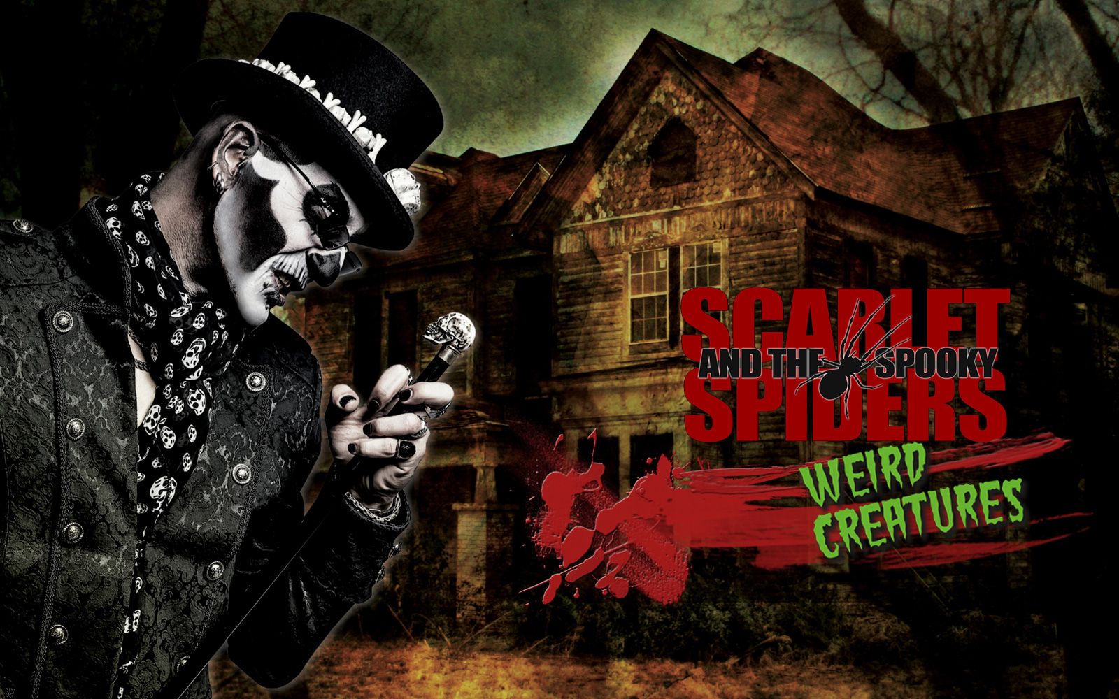 spooky spiders psychobilly horror punk Scarlet spider baron samedi weird creatures new album spooky band website